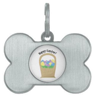 Pascua feliz placa de mascota