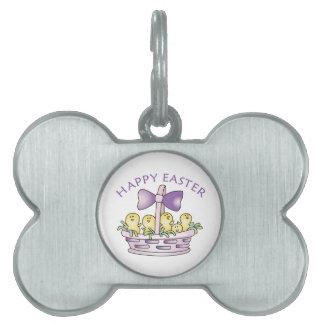 Pascua feliz placas de mascota