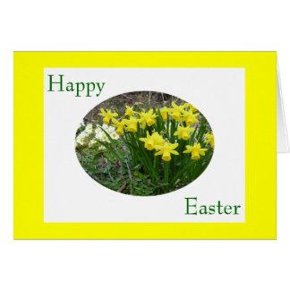 Pascua feliz - narcisos tarjeta