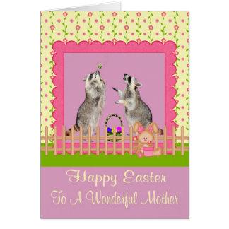 Pascua feliz para mimar a la tarjeta de felicitaci