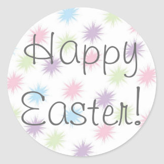 ¡Pascua feliz! Pegatina Redonda