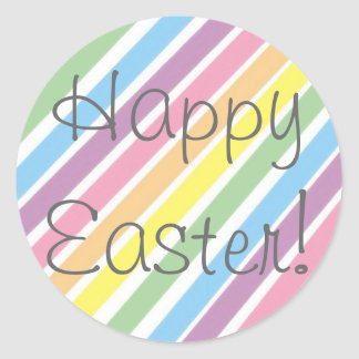 ¡Pascua feliz! Etiqueta Redonda