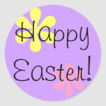 ¡Pascua feliz! Pegatinas Redondas