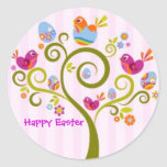 Pascua feliz pegatinas redondas