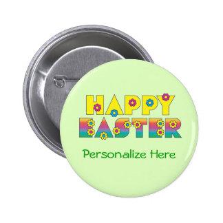 Pascua feliz pin redondo 5 cm