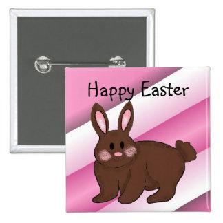 Pascua feliz pin cuadrada 5 cm