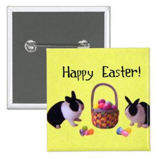 ¡Pascua feliz! Pin Cuadrado