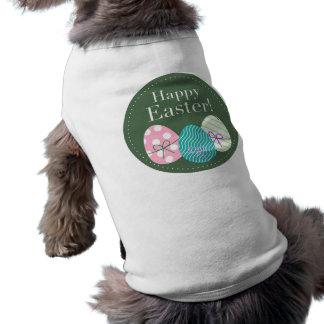 Pascua feliz playera sin mangas para perro