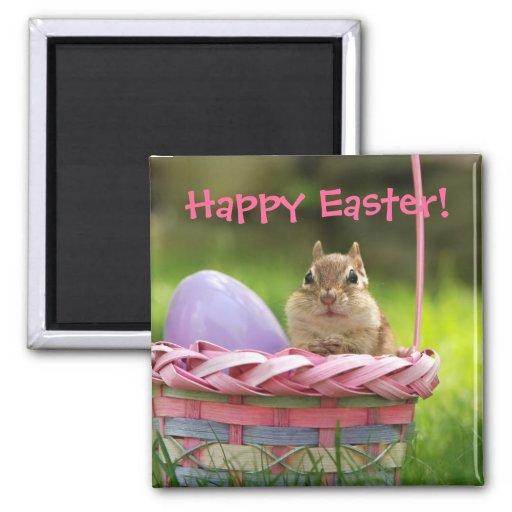 Pascua feliz poco Chipmunk 2 Imán De Frigorífico