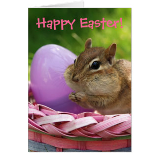 Pascua feliz poco Chipmunk Felicitacion