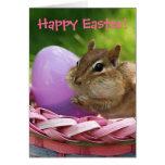 Pascua feliz poco Chipmunk Tarjeta De Felicitación