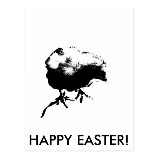 ¡Pascua feliz! (Polluelo del bebé) impresión Postal
