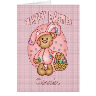 Pascua feliz - primo - oso de peluche lindo en el tarjeta de felicitación