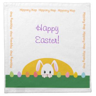 Pascua feliz que mira a escondidas el sistema deco servilleta imprimida