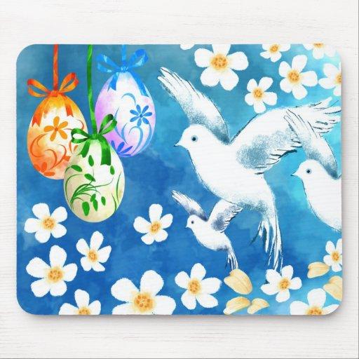 Pascua feliz. Regalo Mousepad de Pascua Tapetes De Raton