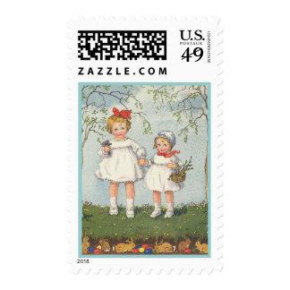 Pascua feliz sellos postales