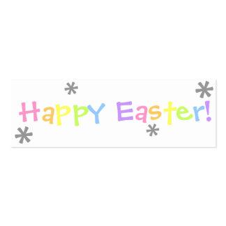 ¡Pascua feliz!  Señal Tarjetas De Visita Mini