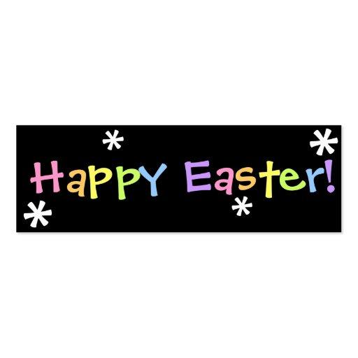 ¡Pascua feliz!  Señal Tarjeta De Visita