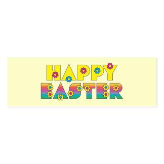 Pascua feliz tarjetas de visita mini