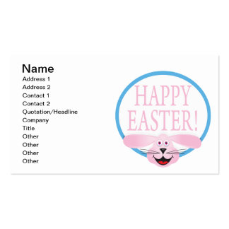 Pascua feliz tarjetas de visita