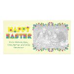 Pascua feliz tarjeta fotografica