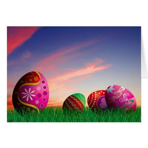 Pascua feliz tarjeton