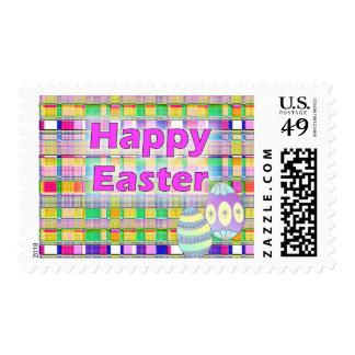 Pascua feliz timbre postal
