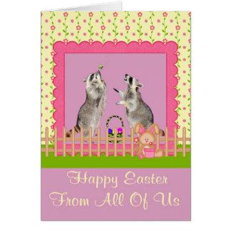 Pascua feliz todos nosotros tarjeta de felicitació