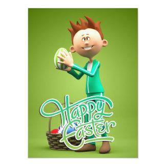Pascua feliz Toon Anuncio Personalizado