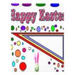 Pascua feliz (usted añade el texto) membretes personalizados