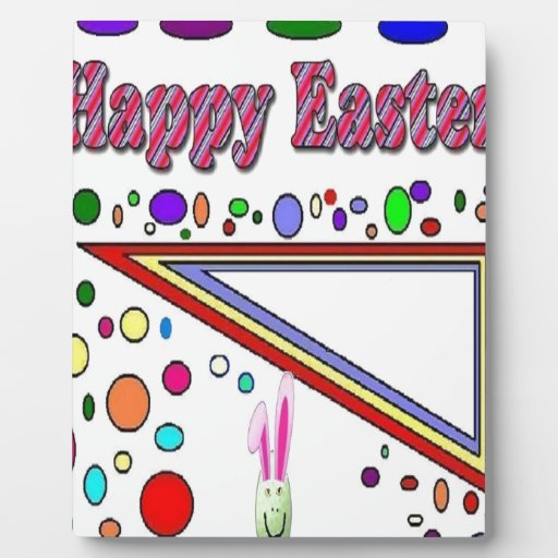 Pascua feliz (usted añade el texto) placas de plastico