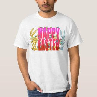 Pascua feliz, y dos conejitos de pascua playera