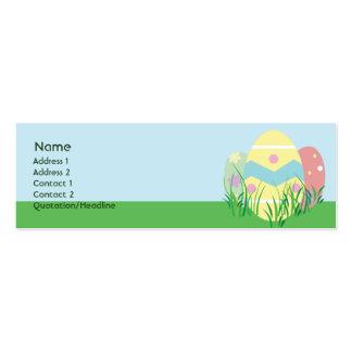 Pascua - flaca tarjetas de visita mini