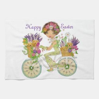 Pascua florece la bicicleta con los perritos del l