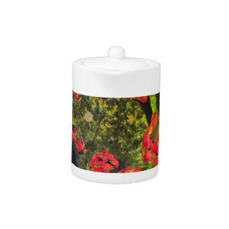 Pascua flowers and nature teapot