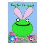 Pascua Froggie Tarjeton