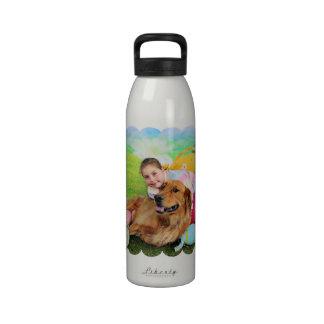 Pascua - golden retriever - cobre botella de beber