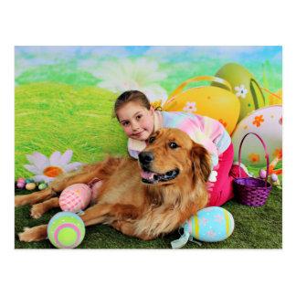 Pascua - golden retriever - cobre postal