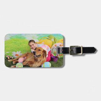 Pascua - golden retriever - haz etiquetas de equipaje