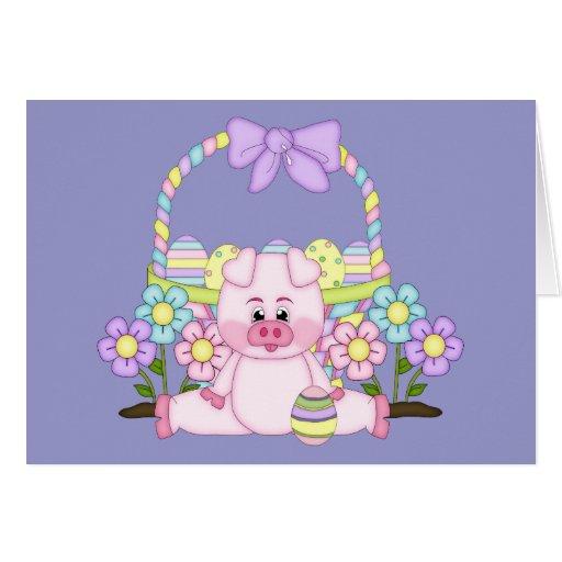 Pascua guarra tarjeta de felicitación
