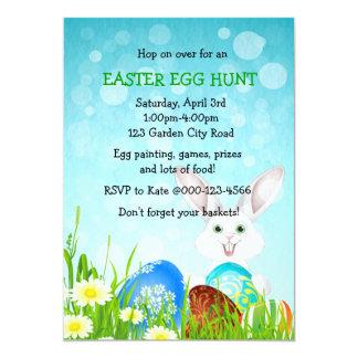 Pascua hermosa y el fiesta de la caza del huevo de invitaciones personalizada