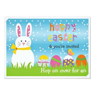 """Pascua hermosa y el fiesta de la caza del huevo de invitación 4.5"""" x 6.25"""""""