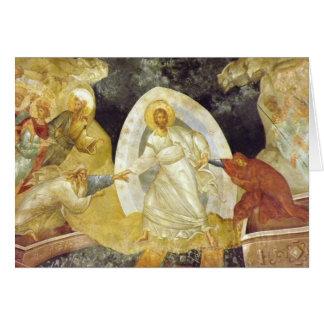 Pascua/iglesia de Chora del fresco de Anastasis de Tarjeta