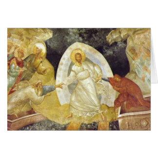 Pascua/iglesia de Chora del fresco de Anastasis de Tarjeton