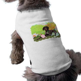 Pascua - indicador de Shorthair del alemán - Kaise Camiseta De Perrito