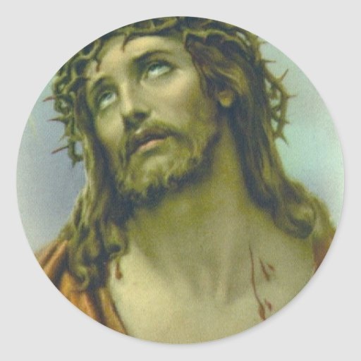 """Pascua """"Jesús """" Etiqueta Redonda"""