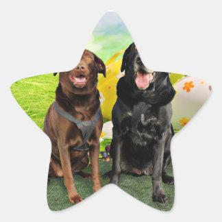 Pascua - Labrador - Jack y Diane Calcomania Forma De Estrella Personalizadas