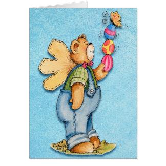 Pascua llenada alegría - tarjeta de felicitación