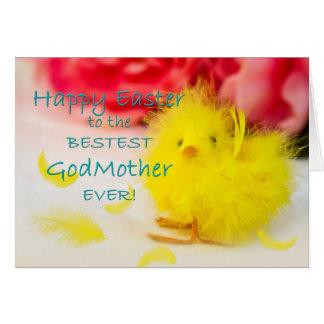 Pascua - madrina - polluelo felicitación