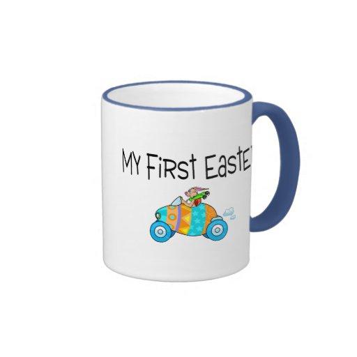 Pascua mi primera Pascua (coche del huevo) Tazas